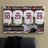 St. Louis Cardinals MLB Personalized Locker Room Canvas- 24x36 - 11549-L