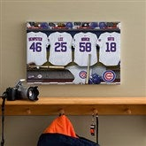 Chicago Cubs MLB Personalized Locker Room Canvas- 12x18 - 11552-S