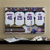 Chicago Cubs MLB Personalized Locker Room Canvas- 16x24 - 11552-M