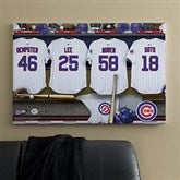 Chicago Cubs MLB Personalized Locker Room Canvas- 24x36 - 11552-L