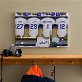 LA Dodgers MLB Personalized Locker Room Canvas- 12x18 - 11554-S