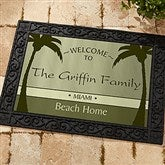 We're Retired! Personalized Recycled Rubber Back Doormat - 11558