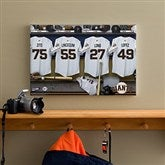 SF Giants MLB Personalized Locker Room Canvas- 12x18 - 11559-S