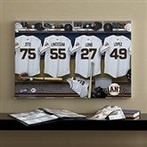 SF Giants MLB Personalized Locker Room Canvas- 16x24 - 11559-M