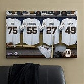 SF Giants MLB Personalized Locker Room Canvas- 24x36 - 11559-L
