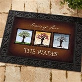 The Seasons Personalized Recycled Rubber Back Doormat - 11561-S