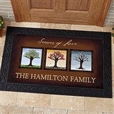 The Seasons Personalized Doormat- 20x35 - 11561-M