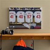 Cleveland Indians MLB Personalized Locker Room Canvas- 12x18 - 11566-S