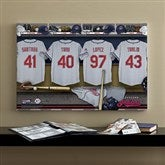 Cleveland Indians MLB Personalized Locker Room Canvas- 16x24 - 11566-M