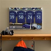 Seattle Mariners MLB Personalized Locker Room Canvas- 12x18 - 11567-S