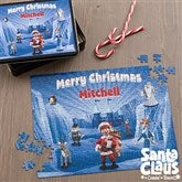 Santa Claus Is Comin' To Town® Personalized 252 Piece Puzzle & Tin - 11577-252