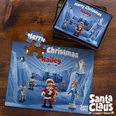 Santa Claus Is Comin' To Town® 25 Piece Personalized Puzzle & Tin - 11577-25