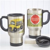 Bus Driver Character Personalized Travel Mug - 11585