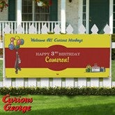 Curious George® Personalized Party Banner - 11588