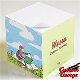 Curious George® Personalized Note Cube - 11594