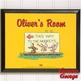 Curious George® Personalized Wall Plaque - 11598