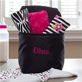 Embroidered Bottle Bag With Burp Cloth Set - 11603