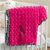 Little Zebra Embroidered Baby Blanket - 11604