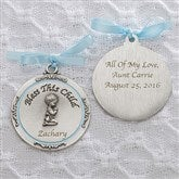 Baptism Blessings Personalized Crib Medallion-Boy - 11607-B
