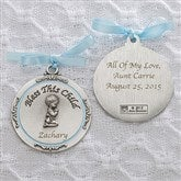 Bless This Child Personalized Crib Medallion-Boy - 11607-B