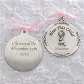 Baptism Blessings Personalized Crib Medallion-Girl - 11607-P