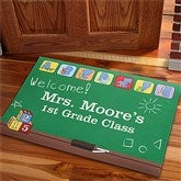 Teacher's Little Learners Personalized Recycled Rubber Back Doormat - 11608