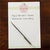Apple Scroll Personalized Teacher's Notepad - 11613