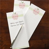 Apple Scroll Personalized Teacher's Notepad Set of 3 - 11614