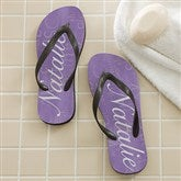 Lavender Spa Personalized Adult Flip Flops - 11617