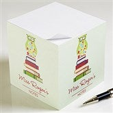 Wise Owl Personalized Note Cube - 11633