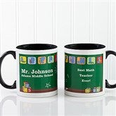 Teacher's Little Learners Personalized Coffee Mug 11oz.- Black - 11639-B