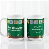 Teacher's Little Learners Personalized Coffee Mug 15 oz.- White - 11639-L