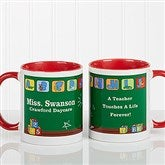 Teacher's Little Learners Personalized Coffee Mug 11oz.- Red - 11639-R