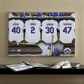 New York Mets MLB Personalized Locker Room Canvas- 16x24 - 11640-M