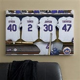 New York Mets MLB Personalized Locker Room Canvas- 24x36 - 11640-L