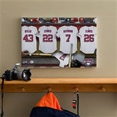Washington Nationals MLB Personalized Locker Room Canvas- 12x18 - 11641-S