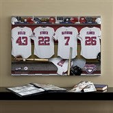 Washington Nationals MLB Personalized Locker Room Canvas- 16x24 - 11641-M