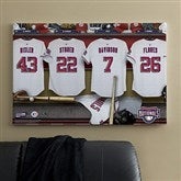 Washington Nationals MLB Personalized Locker Room Canvas- 24x36 - 11641-L