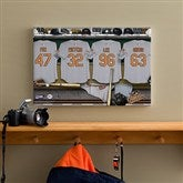 Baltimore Orioles MLB Personalized Locker Room Canvas- 12x18 - 11644-S