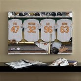 Baltimore Orioles MLB Personalized Locker Room Canvas- 16x24 - 11644-M