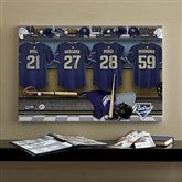 San Diego Padres MLB Personalized Locker Room Canvas- 16x24 - 11646-M