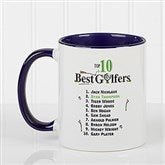 Top 10 Golfers Personalized Coffee Mug 11oz.- Blue - 11658-BL
