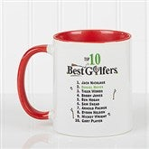 Top 10 Golfers Personalized Coffee Mug 11oz.- Red - 11658-R