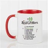 Top 10 Golfers Personalized Coffee Mug 11oz.- Red - 11658-R