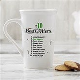 Top 10 Golfers Personalized Latte Mug 16 oz.- White - 11658-U