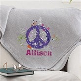 Pretty Peace Personalized Sweatshirt Blanket - 11660