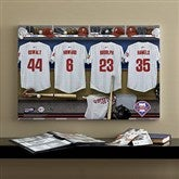 Philadelphia Phillies MLB Personalized Locker Room Canvas- 16x24 - 11661-M