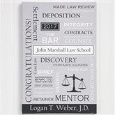 Legal Professions Personalized Canvas Print- 12