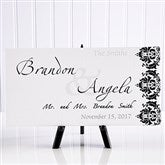 The Wedding Couple Personalized Canvas Print- 5½