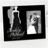 Bride & Groom Silhouette Personalized Frame - 11677